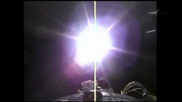The spacecraft separates successfully and begins flying on its own!