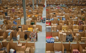 I have so many boxes around me that my place looks more like this Amazon warehouse than a home, only less orderly…ah, the fun of moving!